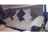 DFS Hudson 4 & 2 seat sofas with ottoman