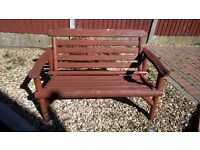 lovely bench with matching love seat