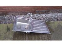 Kitchen sink silver