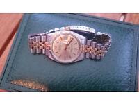 Genuine Pristine Gents BiMetal Rolex Date Just Watch Chester/Liverpool