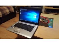 Refurbished upgraded Toshiba laptop Windows 10 320GB AMD 2.1 4GB DVD/RW wireless webcam Office 2010