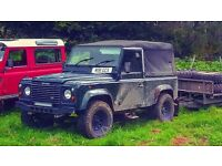 1995 Land Rover Defender 90 300tdi soft top galvanised chassis