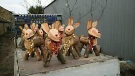 Christmas rudolf reindeer garden decoration