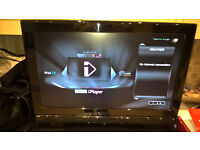 """cello hd tv 26"""" with built in iplayer wifi and sony dvd player"""