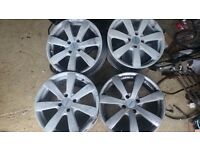 "Have a set of 4 alloys for a 306 Peugeot may fit ford etc no tyres 17""x108 4 stud fitting"