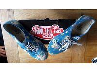 Vans, Size 5 Blue Floral