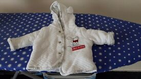 Baby girls coats 0-3 months