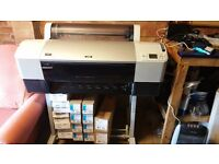 Epson Stylus Pro 7880 Large Format Inkjet Printer and lot of tools