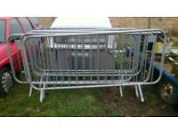 Six crowd barriers for sale