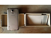 Samsung Galaxy S5 ( S 5 ) in Copper Gold, Unlocked, Boxed, with Stock Android!