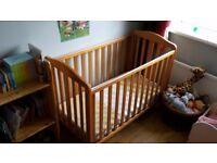 Mothercare takely dropside cot
