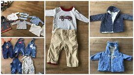 Large bundle of boys next/gap clothes size 0-3