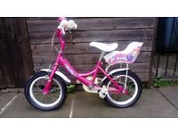 Kids Girls Bike bicycle Raleigh Pink