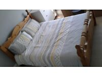 Heavy duty great condition Kingsize bed and mattress