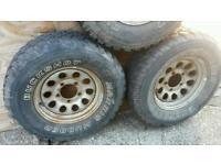Suzuki sj samurai off road wheels and tyres