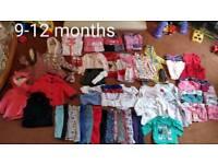 9-12 months baby clothes bundle