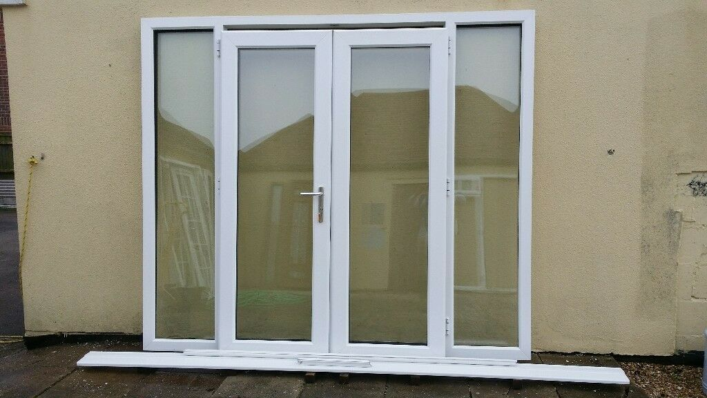 Upvc French Patio Doors With Side Windows Vgc 5 6years