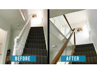 Bespoke Glazed Balustrade Stair Refurb Services