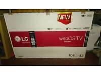 LG smart webOS TV, broken screen