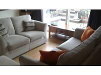 3 & 2 + footstool sofa