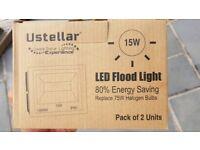 Ustelliar LED Flood Lights (pack of 2) UNUSED