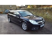 2008 Vauxhall Vectra Estate Direct Design Auto 2.2i, black, 102k, tinted, recent MOT/service