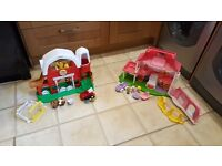 Little people house and farm bundle
