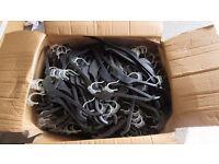 Black Plastic Hangers Clothes Coat Shirt Dress Garment 43cm Non Slip Rubber End Approx 360