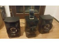Sony (130W) Mini CD/FM Radio Hi-Fi System with Lightning Connector Dock (Black) MHCEC619IP RRP=£165