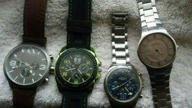 MENS Watches; ARMANI, ROTARY, SKAGEN etc Working Watch Joblot
