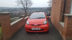 Toyota aygo 3 dr red
