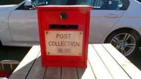 Antique Royal Mail desk top post box