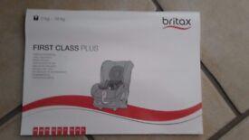 Britax first class plus car seat in black.