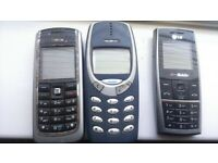 3 times old phones. nokias etc