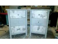 2 bedside cabinets shabby chic