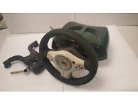 Lotus Steering Wheel & Pedals for Original Xbox Console