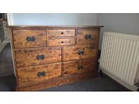 Laura Ashley Garrat Chestnut 8 drawer chest side unit