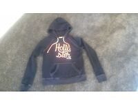 Ladies Hollister Hoodie- Size Small. Navy Blue.