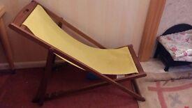 Garden relaxing chair along with cushion