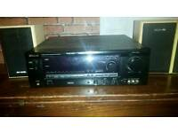 Sherwood surround sound amp and 4 speakers