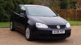 VW GOLF 1.9 S TDI 08 PLATE 2008 3P/OWNER 108000 MILES FULL SERVICE HISTORY AIRCON IN BLACK 5 DOORS