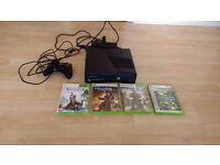 Xbox 360 S 250gb console + controller + 4 games + HDMI cable