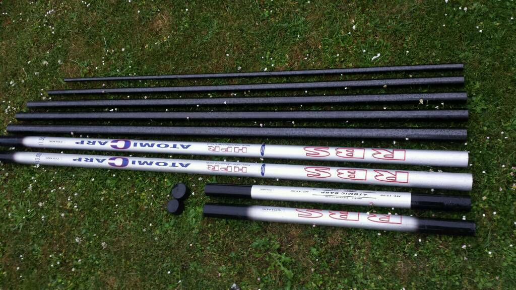 13m colmic atomic carp pole fishing in lincoln for Teal fishing pole
