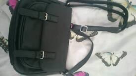 Black real leather handbag brand new