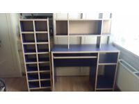 desk and shelf set