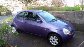 REDUCED! Ford KA, 1.3 hatchback, 2008, Purple. Good runner, reliable, quick sale required.