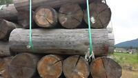 cedar landscape logs,use as Ties, wall, curbs.