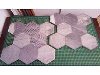Grey hexagon stone tiles
