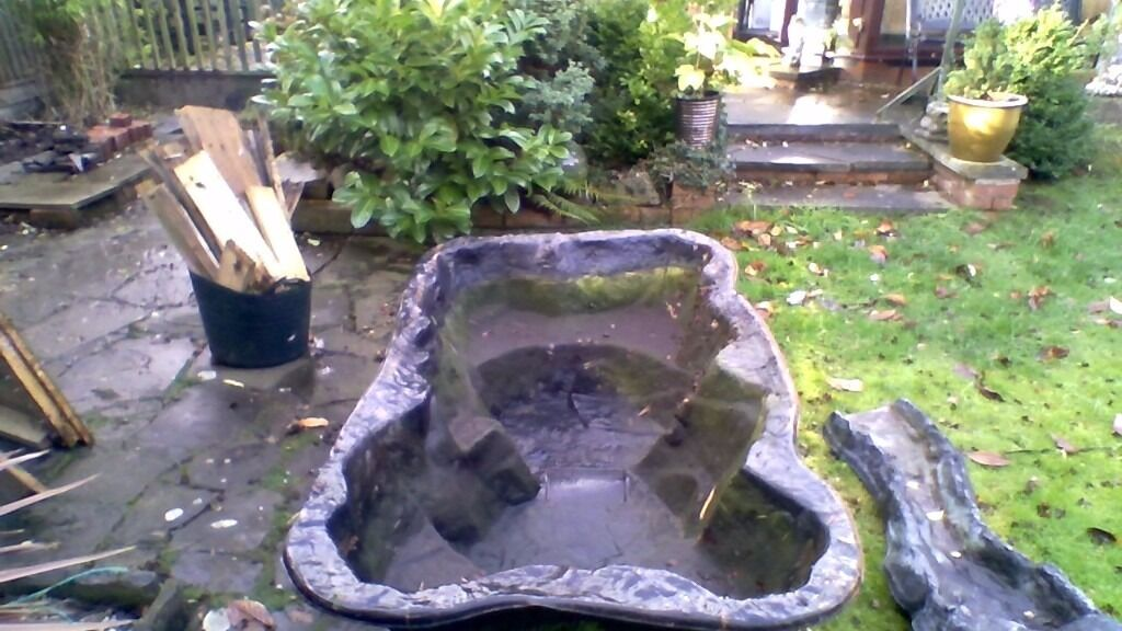 Preformed pond 180cm x 100cm and 100cm waterfall plastic in hull east yorkshire gumtree Preformed plastic pond