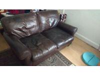 Sofa (Laura Ashley) 100% Real Cardinal Leather